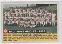 Baltimore Orioles Team (White Back, Team Name and Year) [Good to VG&#…