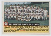 Baltimore Orioles Team (White Back, Team Name and Year)