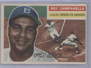 1956 Topps #101.1 - Roy Campanella (Gray Back) [Good to VG‑EX]