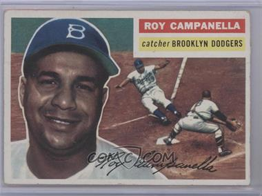 1956 Topps #101.1 - Roy Campanella (White Back)