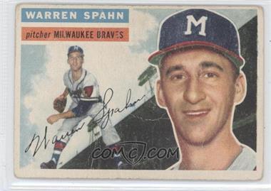 1956 Topps #10WB - Warren Spahn [GoodtoVG‑EX]