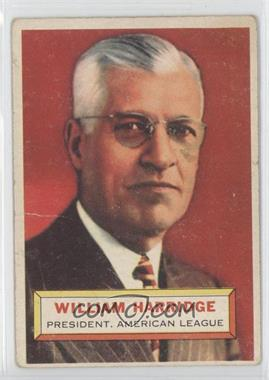 1956 Topps #1.1 - William Harridge (grey back)