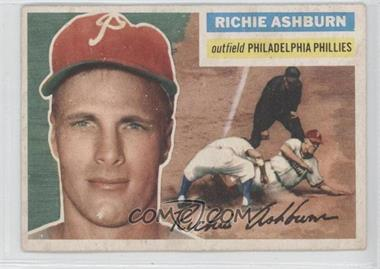 1956 Topps #120.1 - Richie Ashburn (Gray Back)