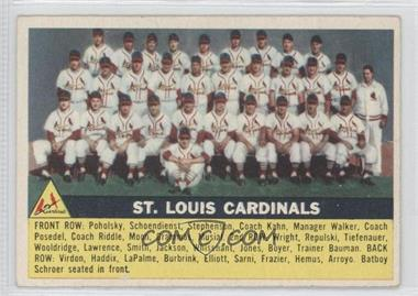 1956 Topps #134 - St. Louis Cardinals Team