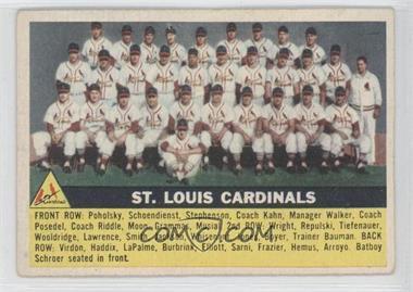1956 Topps #134.1 - St. Louis Cardinals Team (Gray Back)