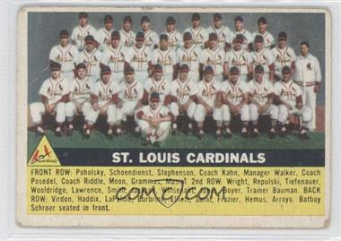 1956 Topps #134.1 - St. Louis Cardinals Team (Gray Back)
