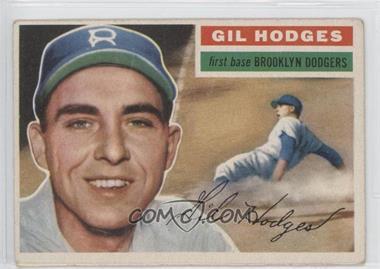 1956 Topps #145.1 - Gil Hodges (Gray Back)