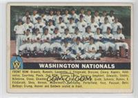 Washington Nationals Team (Gray Back) [Good to VG‑EX]