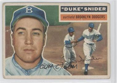 1956 Topps #150.1 - Duke Snider (Gray Back) [Good to VG‑EX]