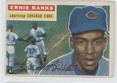 1956 Topps #15.1 - Ernie Banks (Gray Back)