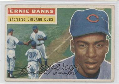 1956 Topps #15.1 - Ernie Banks (Grey Back) [Good to VG‑EX]