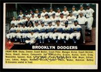 Brooklyn Dodgers Checklist (white back) [EX]