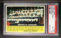 Brooklyn Dodgers Checklist (white back) [PSA 6]