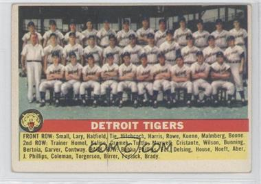 1956 Topps #213 - Detroit Tigers Team