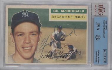 1956 Topps #225 - Gil McDougald [BVG/JSACertifiedAuto]