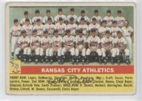 Kansas City Athletics Team [Good to VG‑EX]