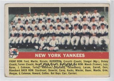 1956 Topps #251 - New York Yankees Team [Good to VG‑EX]