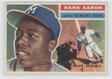 1956 Topps #31.1 - Hank Aaron (Gray Back)