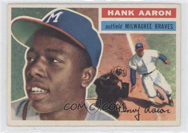 1956 Topps #31.1 - Hank Aaron Grey Back