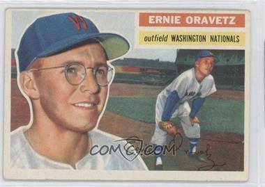 1956 Topps #51.1 - Ernie Oravetz (Gray Back)