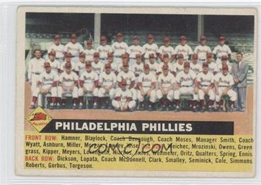 1956 Topps #72.3 - Philadelphia Phillies Team (Gray Back, Team Name Left)