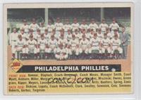 Philadelphia Phillies Team (White Back, Team Name Centered)