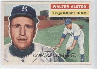 1956 Topps #8.1 - Walter Alston (Gray Back)