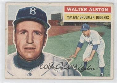 1956 Topps #8.1 - Walter Alston (Gray Back)