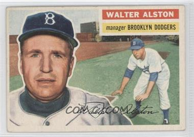 1956 Topps #8.1 - Walter Alston (grey back)