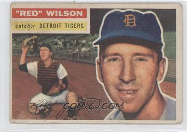 1956 Topps #92.1 - Red Wilson (grey back)