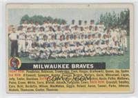 Milwaukee Braves Team (name centered/white back) [GoodtoVG‑EX]