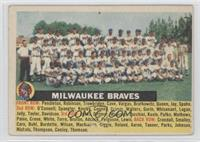 Milwaukee Braves Team (name centered/grey back)