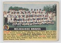 Milwaukee Braves Team (name centered/grey back) [Good to VG‑EX]