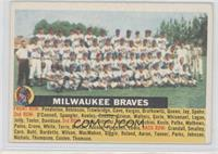 Milwaukee Braves Team (White Back, Team Name Centered)