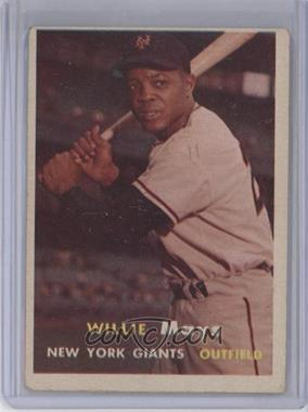 1957 Topps - [Base] #10 - Willie Mays [Good to VG‑EX]