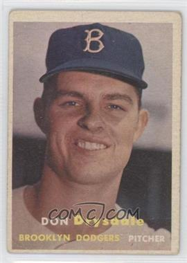 1957 Topps - [Base] #18 - Don Drysdale [GoodtoVG‑EX]