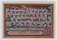 Washington Senators Team [Good to VG‑EX]