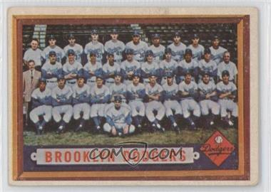 1957 Topps - [Base] #324 - Brooklyn Dodgers Team [Good to VG‑EX]