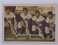 Dodgers' Sluggers (Furillo, Hodges, Campanella, Snider) [Excellent]