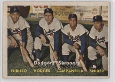 1957 Topps - [Base] #400 - Dodgers' Sluggers (Furillo, Hodges, Campanella, Snider)