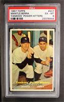 Yankees' Power Hitters (Mickey Mantle, Yogi Berra) [PSA6]
