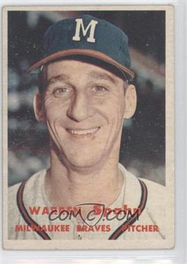 1957 Topps - [Base] #90 - Warren Spahn