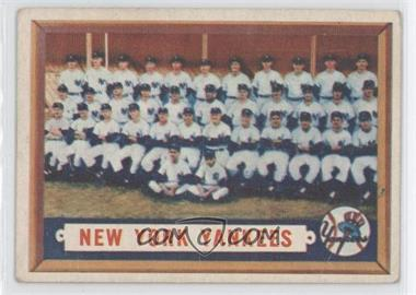 1957 Topps - [Base] #97 - New York Yankees Team [Good to VG‑EX]