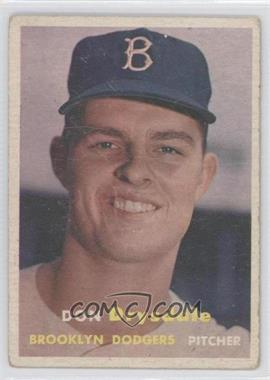 1957 Topps #18 - Don Drysdale [Good to VG‑EX]