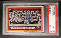 New York Giants Team [PSA 8]