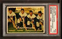 Dodgers' Sluggers (Furillo, Hodges, Campanella, Snider) [PSA7]