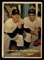 Yankees' Power Hitters (Mickey Mantle, Yogi Berra) [VG]