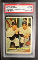 Yankees' Power Hitters (Mickey Mantle, Yogi Berra) [PSA 4]
