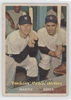 Yankees' Power Hitters (Mickey Mantle, Yogi Berra) [Good to VG‑…