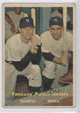 1957 Topps #407 - Yankees' Power Hitters (Mickey Mantle, Yogi Berra)